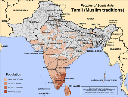 Tamil muslim traditions in india joshua project tamil muslim traditions in india map source joshua project global mapping international gumiabroncs Choice Image