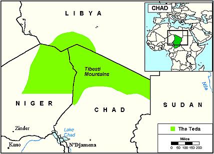 tibesti mountains africa map