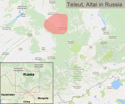 Map of Teleut in China