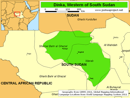 Dinka, Southwestern in South Sudan