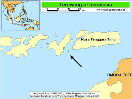 Map of Tereweng in Indonesia