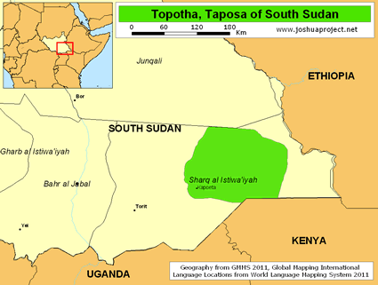 Taposa in South Sudan