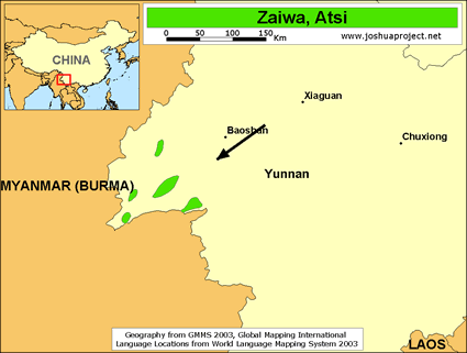 Zaiwa, Atsi in China