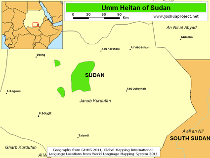 Map of Umm Heitan in Sudan
