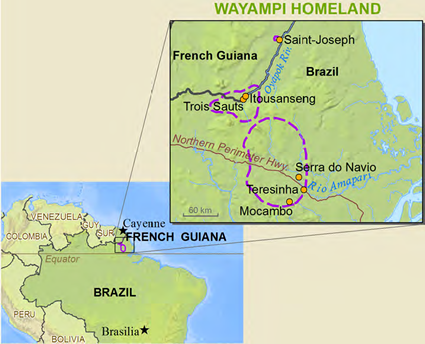 Wayampi, Oiapoque in French Guiana