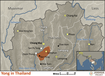 Map of Yong in Thailand