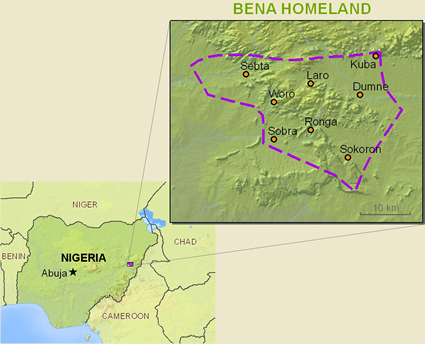 Map of Yungur, Binna in Nigeria