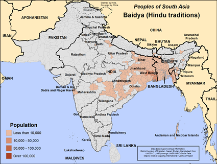 Baidya (Hindu traditions) in India
