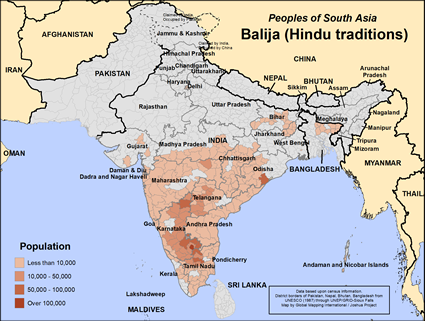 Balija, Hindu in India