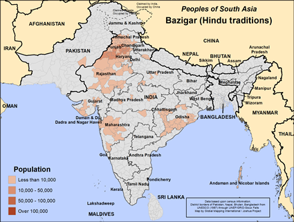 Bazigar, Hindu in India