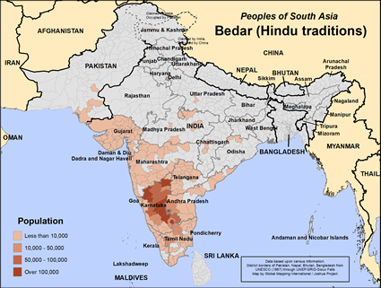 Bedar, Hindu in India