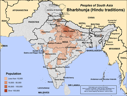 Bharbhunja (Hindu traditions) in India