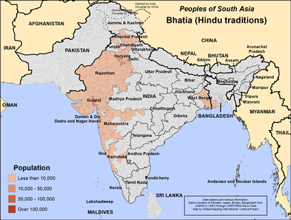 Bhatia (Hindu traditions) in India