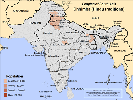 Chhimba (Hindu traditions) in India