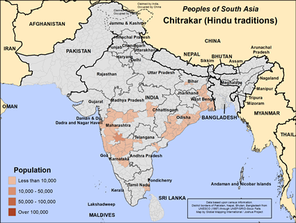 Chitrakar (Hindu traditions) in India