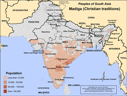 Madiga (Christian traditions) in India