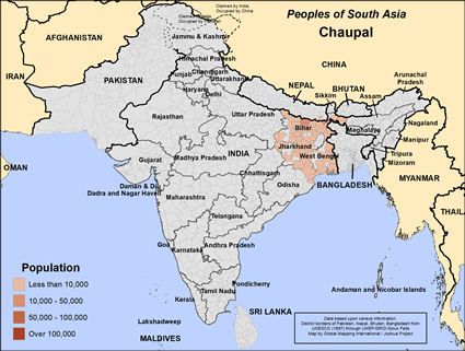 Map of Chaupal in India