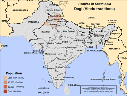 Dagi (Hindu traditions) in India