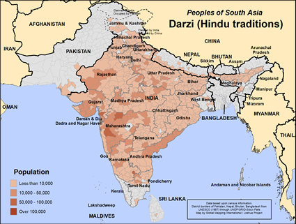 Darzi (Hindu traditions) in India