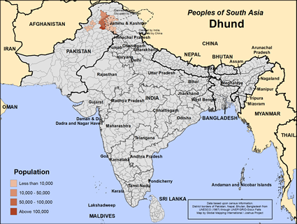 Map of Dhund in India