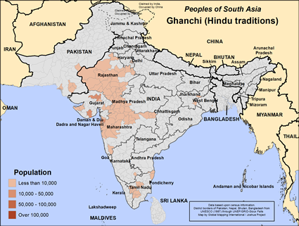 Ghanchi, Hindu in India