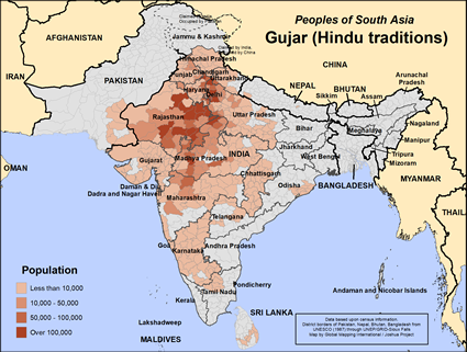 Gujar (Hindu traditions) in India