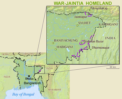 Map of Jamatia in India