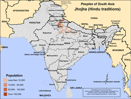 Jhojha (Hindu traditions) in India