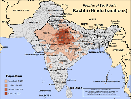 Kachhi (Hindu traditions) in India