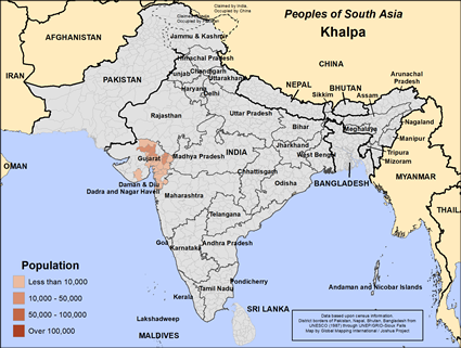 Map of Khalpa in India