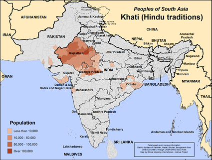 Khati, Hindu in India