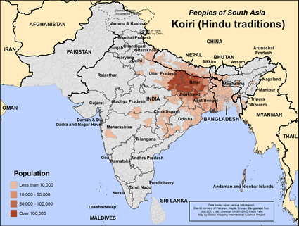 Koiri (Hindu traditions) in India