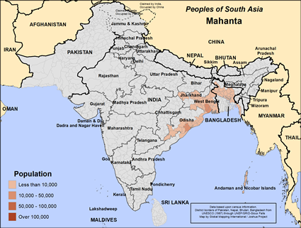 Map of Mahanta in India