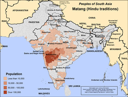 Matang (Hindu traditions) in India