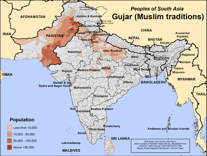 Gujar (Muslim traditions) in India