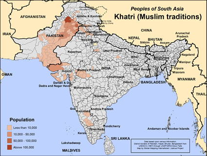 Khatri, Muslim in India