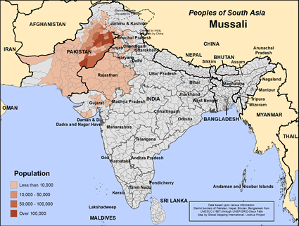 Map of Mussali in India