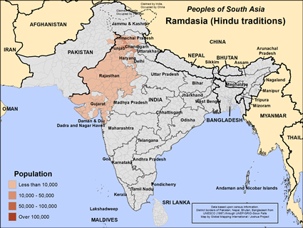 Ramdasia, Hindu in India