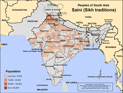 Saini (Sikh traditions) in India