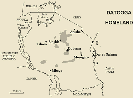 Map of Datooga in Tanzania