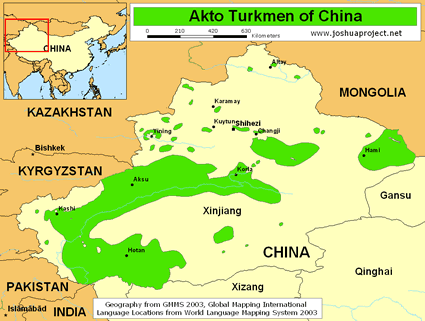 Akto Turkmen in China