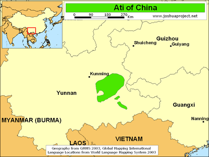 Map of Ati in China