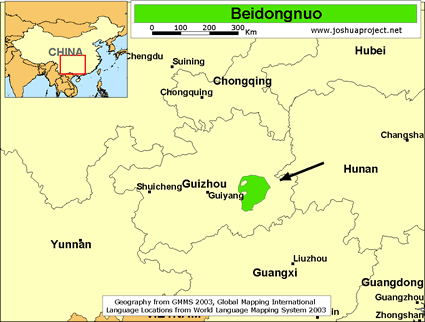 Map of Beidongnuo in China