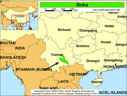 Map of Bokha in China