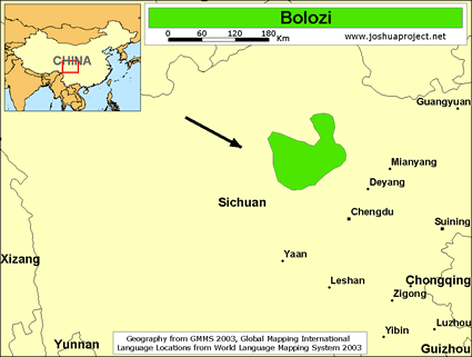 Map of Bolozi in China