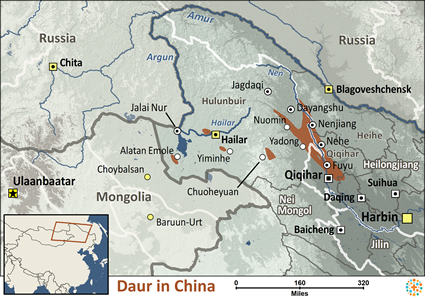 Map of Daur in China