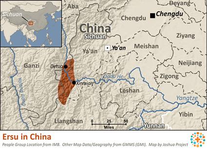Ersu In China Joshua Project - China language map