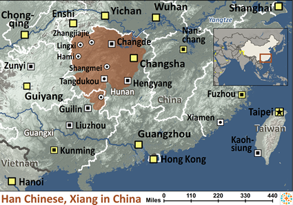 Han Chinese Xiang In China Map