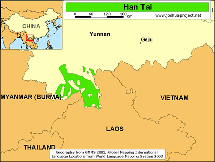 Map of Han Tai in China