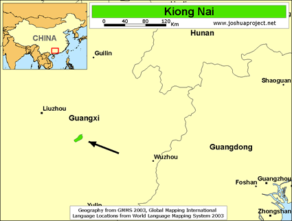 Map of Kiong Nai in China
